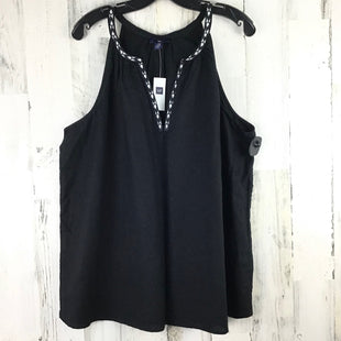 Primary Photo - BRAND: GAP O STYLE: TOP SLEEVELESS COLOR: BLACK SIZE: 2X OTHER INFO: NWT RT $45 V NECK SKU: 258-25873-35285