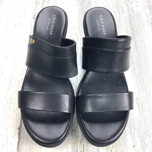 Primary Photo - BRAND: COLE-HAAN STYLE: SANDALS LOW COLOR: BLACK SIZE: 8.5 OTHER INFO: LEATHER DOUBLE STRAP SKU: 258-25871-12793