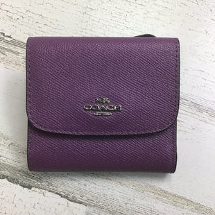 Primary Photo - BRAND: COACH STYLE: WALLET COLOR: PURPLE SIZE: SMALL OTHER INFO: TRIFOLD PEBBELED SKU: 258-258111-6863