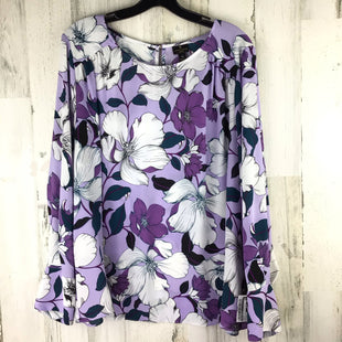 Primary Photo - BRAND: WORTHINGTON STYLE: TOP LONG SLEEVE COLOR: PURPLE SIZE: 1X SKU: 258-25877-21334