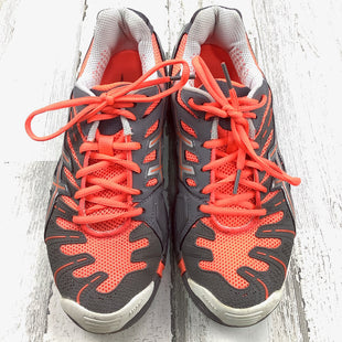 Primary Photo - BRAND: ASICS STYLE: SHOES ATHLETIC COLOR: GREY SIZE: 8 OTHER INFO: NEON ORANGE LACES SKU: 258-25871-12492