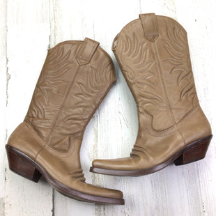 Primary Photo - BRAND:    CLOTHES MENTOR STYLE: BOOTS KNEE COLOR: TAN SIZE: 7 OTHER INFO: COWGIRL AS IS SKU: 258-25811-13233