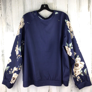 Primary Photo - BRAND: SHEIN STYLE: TOP LONG SLEEVE COLOR: NAVY SIZE: 2X OTHER INFO: FITS LIKE 2X SKU: 258-258111-10694