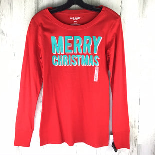 Primary Photo - BRAND: OLD NAVY O STYLE: TOP LONG SLEEVE BASIC COLOR: RED SIZE: S OTHER INFO: NWT! MERRY CHRISTMAS SKU: 258-25898-8046