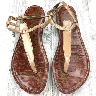 Primary Photo - BRAND: SAM EDELMAN STYLE: SANDALS FLAT COLOR: TAN SIZE: 9 OTHER INFO: PATENT SKU: 258-258111-5988