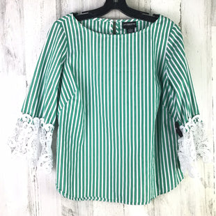 Primary Photo - BRAND: LIZ CLAIBORNE STYLE: TOP LONG SLEEVE COLOR: GREEN SIZE: S OTHER INFO: STRIPED SKU: 258-25885-32149