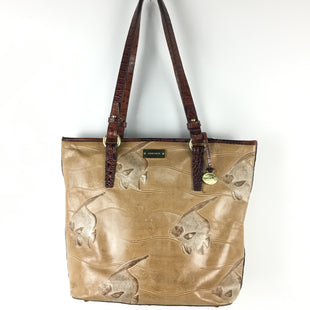 Primary Photo - BRAND: BRAHMIN STYLE: HANDBAG DESIGNER COLOR: TAN SIZE: MEDIUM OTHER INFO: AS IS ANGEL FISH RARE DESIGN SKU: 258-25877-16512