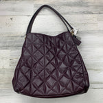 Primary Photo - BRAND: COACH <BR>STYLE: HANDBAG DESIGNER <BR>COLOR: BURGUNDY <BR>SIZE: LARGE <BR>OTHER INFO: ND! PHOEBE QUILTED <BR>SKU: 258-25871-11343