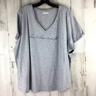 Primary Photo - BRAND: MAURICES STYLE: TOP SHORT SLEEVE COLOR: GREY SIZE: 2X SKU: 258-258111-9935