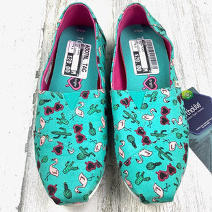 Primary Photo - BRAND: TOMS STYLE: SHOES FLATS COLOR: TEAL SIZE: 6.5 OTHER INFO: NEW! FLAMINGO SKU: 258-25877-21224