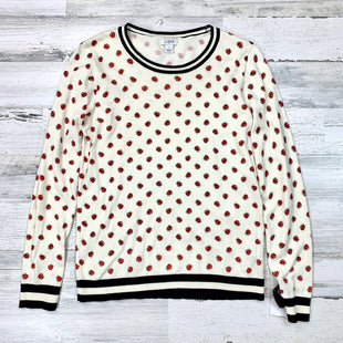 Primary Photo - BRAND: J CREW O STYLE: SWEATER LIGHTWEIGHT COLOR: CREAM SIZE: S OTHER INFO: LADY BUGS SKU: 258-25885-31611