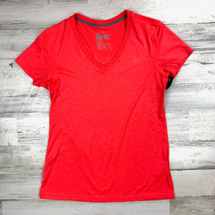 Primary Photo - BRAND: NIKE APPAREL STYLE: ATHLETIC TOP SHORT SLEEVE COLOR: CORAL SIZE: M SKU: 258-25871-12522