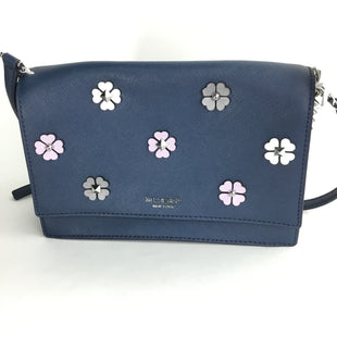 Primary Photo - BRAND: KATE SPADE STYLE: HANDBAG DESIGNER COLOR: NAVY SIZE: SMALL OTHER INFO: CAMERON SPADE FLOWER APPLIQUE SKU: 258-25877-16119