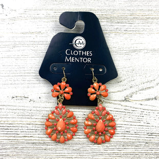 Primary Photo - BRAND:  CME STYLE: EARRINGS COLOR: ORANGE OTHER INFO: 4 TEARDROP DANGLES SKU: 258-258111-10103