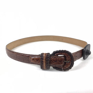 Primary Photo - BRAND:    CLOTHES MENTOR STYLE: BELT COLOR: BROWN SIZE: M OTHER INFO: CROC LEATHERSKU: 258-25873-34817