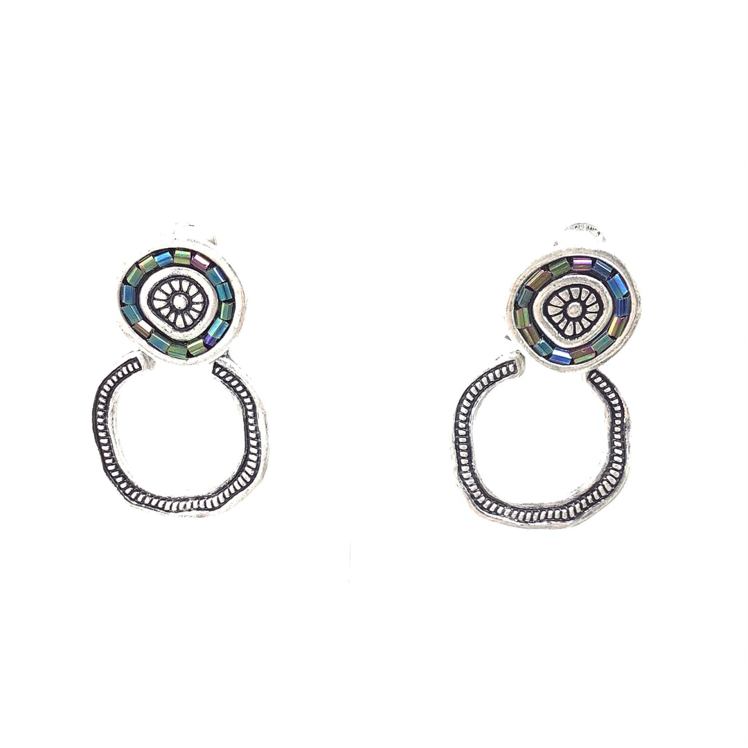 Primary Photo - BRAND: PREMIER DESIGNS <BR>STYLE: EARRINGS <BR>COLOR: SILVER <BR>OTHER INFO:THREE IN ONE <BR>SKU: 258-25885-32961