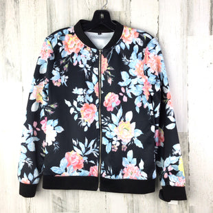 Primary Photo - BRAND:    CLOTHES MENTOR STYLE: JACKET OUTDOOR COLOR: BLACK SIZE: M OTHER INFO: FLORAL BOMBER STYLE SKU: 258-25873-36651