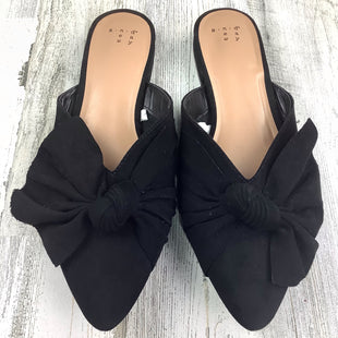 Primary Photo - BRAND: A NEW DAY STYLE: SHOES FLATS COLOR: BLACK SIZE: 9.5 OTHER INFO: SLIP ON W/ BOW SKU: 258-25871-13195