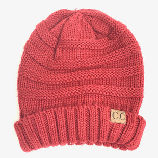 Primary Photo - BRAND: CC STYLE: HAT COLOR: RED OTHER INFO: KNITTED SKU: 258-25873-37182