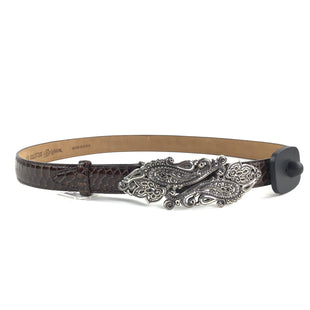 Primary Photo - BRAND: BRIGHTON O STYLE: BELT COLOR: BROWN SIZE: XS OTHER INFO: SNAKE PRINT W SILVER BUCKLE SKU: 258-258111-1788