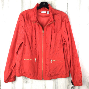 Primary Photo - BRAND: ZENERGY BY CHICOS STYLE: JACKET OUTDOOR COLOR: RED SIZE: L OTHER INFO: EYELET SKU: 258-25873-36507