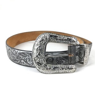 Primary Photo - BRAND: JUSTIN STYLE: BELT COLOR: SILVER SIZE: M OTHER INFO: EMBROIDERED DESIGN SKU: 258-25877-17498