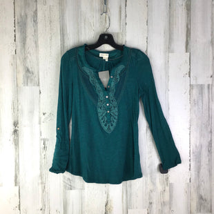 Primary Photo - BRAND: MEADOW RUE STYLE: TOP LONG SLEEVE COLOR: BLUE GREEN SIZE: XS OTHER INFO: NWT! LACE NECK SKU: 258-258100-2233