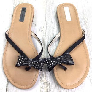 Primary Photo - BRAND: INC STYLE: FLIP FLOPS COLOR: BLACK SIZE: 9 OTHER INFO: RHINESTONE BOWS SKU: 258-258111-5765