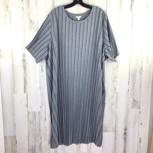 Primary Photo - BRAND: CATO STYLE: DRESS SHORT SHORT SLEEVE COLOR: GREY SIZE: 2X OTHER INFO: STRIPED SKU: 258-25873-37219