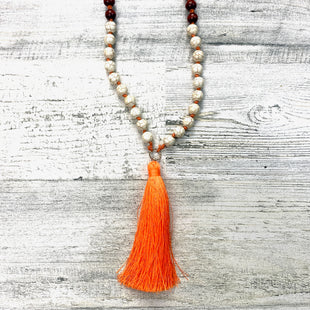 Primary Photo - BRAND:    CLOTHES MENTOR STYLE: NECKLACE COLOR: ORANGE OTHER INFO: 11 TASSEL SKU: 258-258111-8972