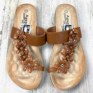 Primary Photo - BRAND: AGAPE COLLECTIONSTYLE: SANDALS FLAT COLOR: BROWN SIZE: 7 OTHER INFO: AGAPE COLLECTION SKU: 258-25885-33215
