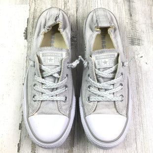 Primary Photo - BRAND: CONVERSE STYLE: SHOES FLATS COLOR: GREY SIZE: 9 OTHER INFO: SCRUNCHY BACK SKU: 258-25873-35415