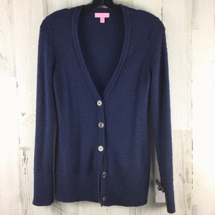 Primary Photo - BRAND: LILLY PULITZER STYLE: SWEATER CARDIGAN LIGHTWEIGHT COLOR: NAVY SIZE: XS SKU: 258-25877-21731