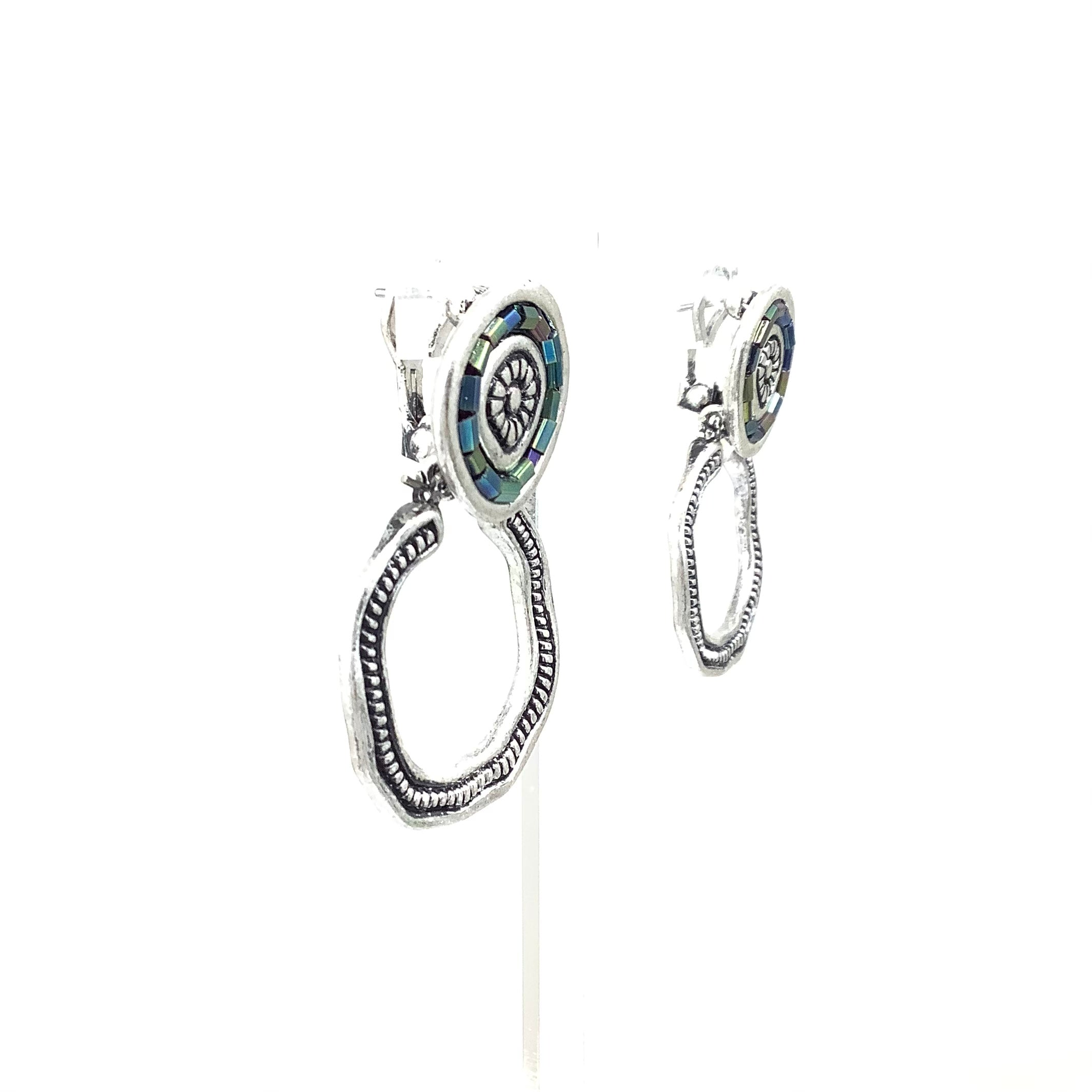 Photo #1 - BRAND: PREMIER DESIGNS <BR>STYLE: EARRINGS <BR>COLOR: SILVER <BR>OTHER INFO:THREE IN ONE <BR>SKU: 258-25885-32961