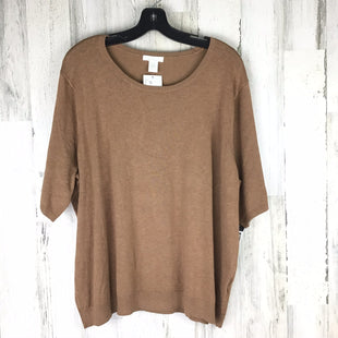 Primary Photo - BRAND: H&M STYLE: TOP SHORT SLEEVE COLOR: TAN SIZE: 2X OTHER INFO: NWT! SKU: 258-25877-18534