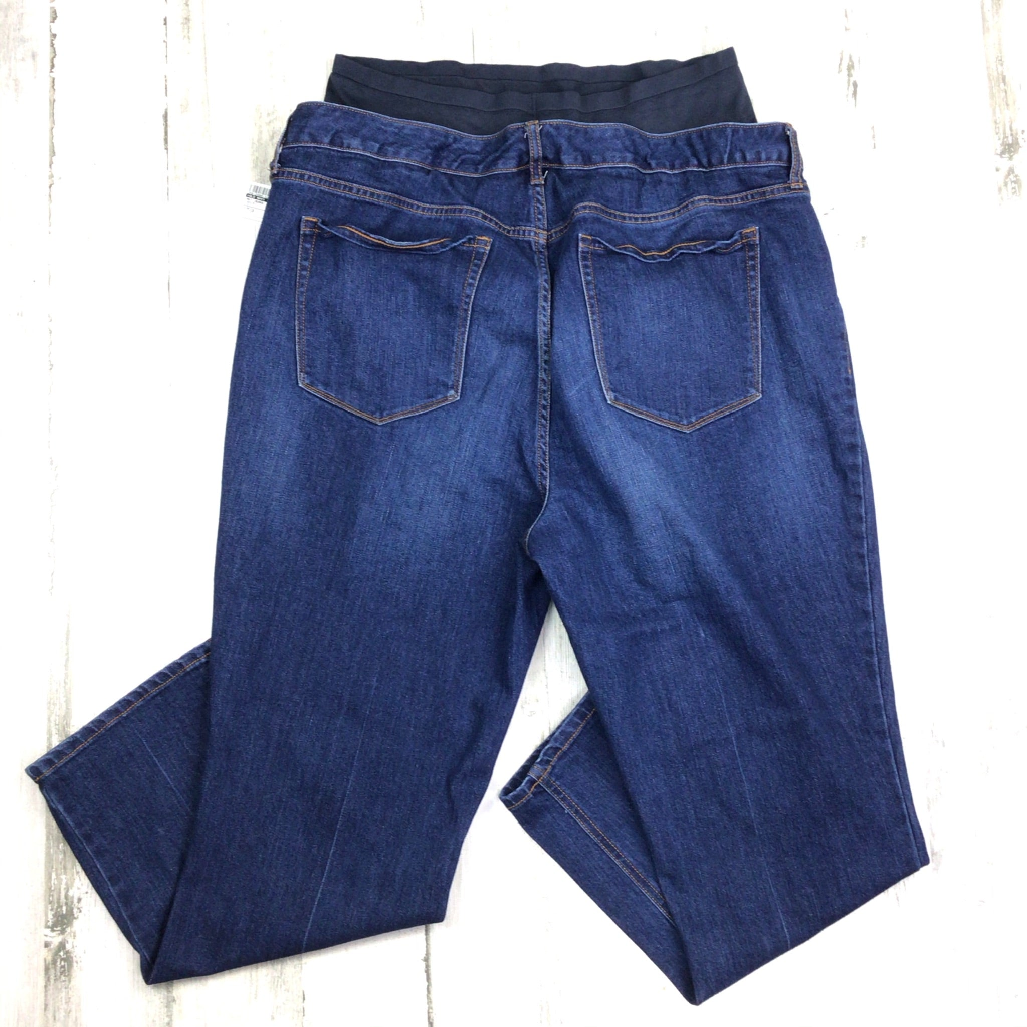Photo #1 - BRAND: OLD NAVY <BR>STYLE: MATERNITY JEANS <BR>COLOR: DENIM <BR>SIZE: 1X <BR>SKU: 258-25885-32887