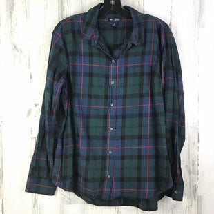 Primary Photo - BRAND: GAP STYLE: TOP LONG SLEEVE COLOR: GREEN SIZE: M OTHER INFO: PLAID SKU: 258-25877-18075