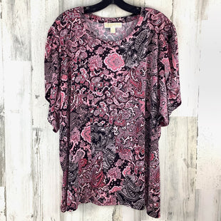 Primary Photo - BRAND: MICHAEL BY MICHAEL KORS STYLE: TOP SHORT SLEEVE COLOR: PINK SIZE: 3X SKU: 258-258111-11987