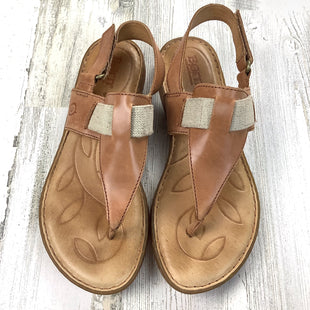 Primary Photo - BRAND: BORN STYLE: SANDALS FLAT COLOR: TAN SIZE: 7 OTHER INFO: ELASTIC ANKLE SOFT SOLE SKU: 258-25871-12933