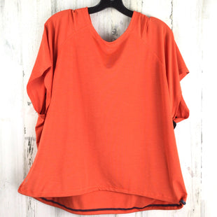 Primary Photo - BRAND: ATHLETA STYLE: ATHLETIC TOP SHORT SLEEVE COLOR: ORANGE SIZE: XL OTHER INFO: HOOD SKU: 258-25898-13187