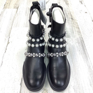 Primary Photo - BRAND: ZARA BASIC STYLE: BOOTS ANKLE COLOR: BLACK SIZE: 7.5 OTHER INFO: NEW COMBAT W PEARLS $77 SKU: 258-25811-13301