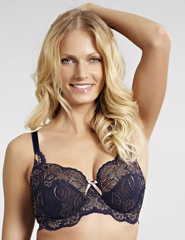 Panache Bras - Andorra 5675 - Navy/Gold SPECIAL OFFER 30% OFF & FREE EXPRESS SHIPPING