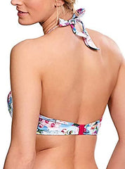 Panache Swimwear - Alanis Padded Halter SW1145 - Blue/Floral