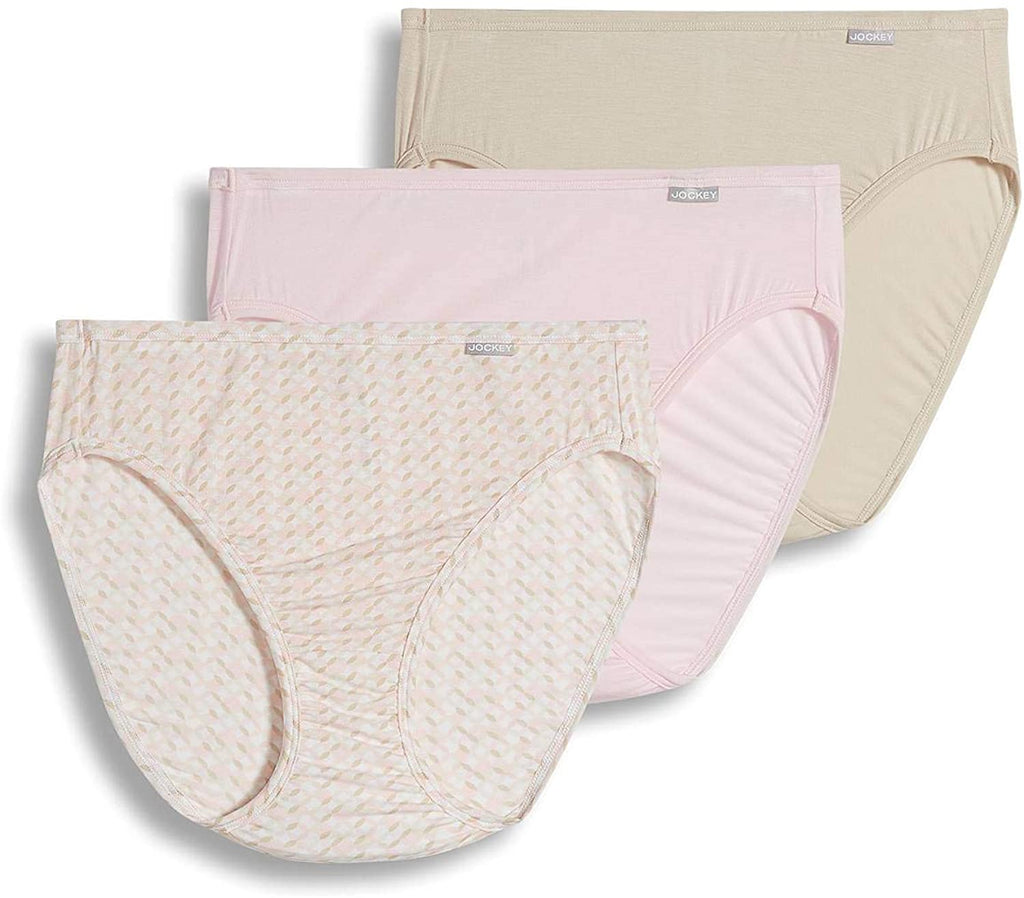 Jockey Panties - Supersoft Soft & Comfy French Cut 3PCK 7048 - Pink, Nude, Multi (902)