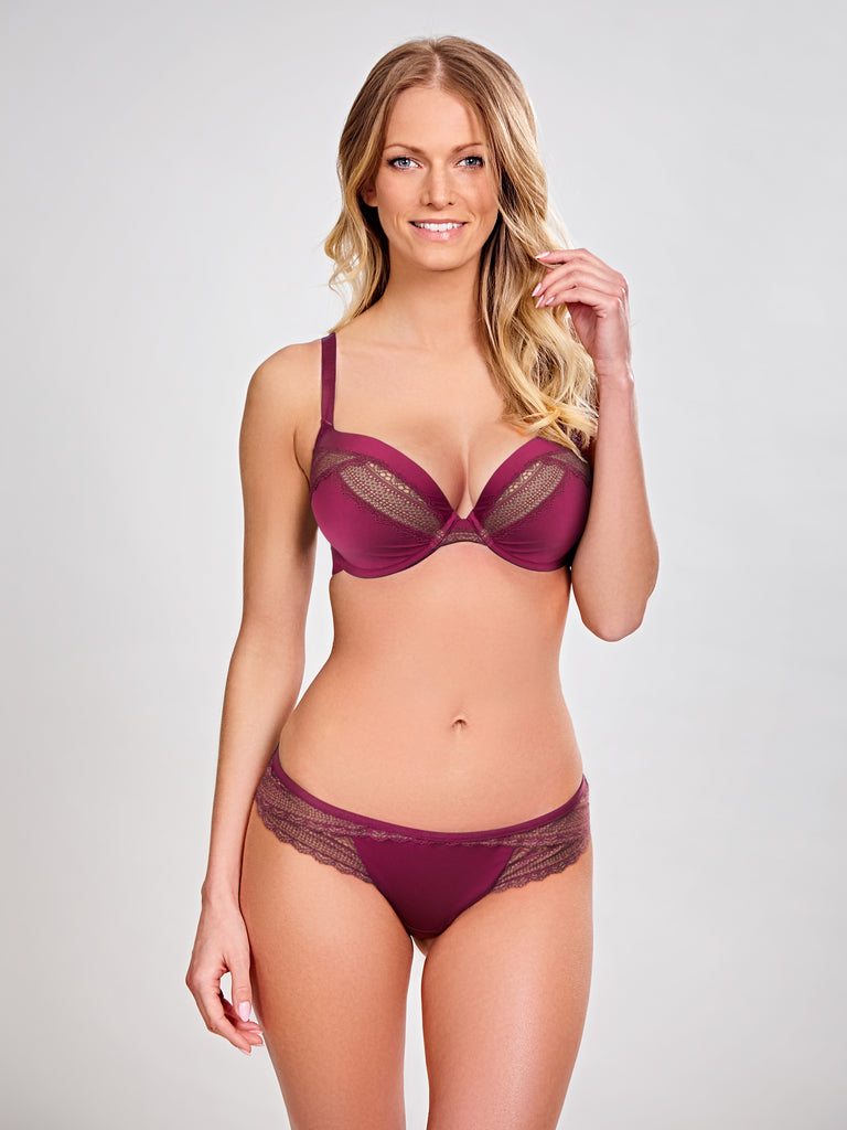 Panache Bras - Aria 8086 - Wine/Nude SPECIAL OFFER 30% OFF & FREE EXPRESS SHIPPING