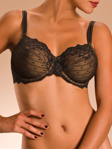 Chantelle Bras - Rive Gauche 3281 - Black SPECIAL OFFER FREE EXPRESS SHIPPING