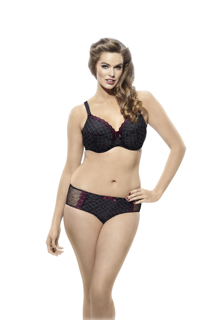 Sculptresse Bra - Dina 7111 - Black/Red FREE EXPRESS SHIPPING