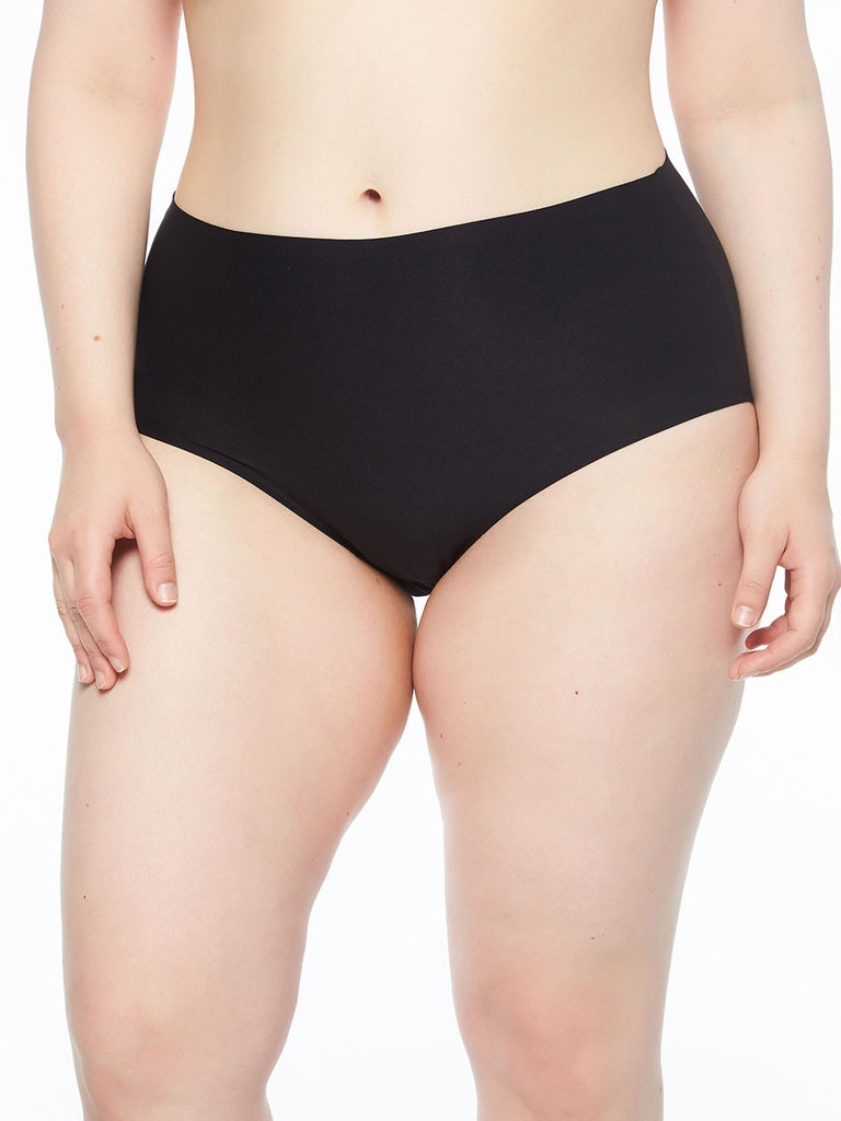 Chantelle Panties - Soft Stretch Seamless Full Brief in One Size Plus 1137 - Black