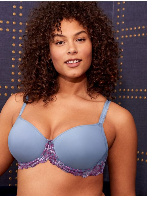 Wacoal Bras - Embrace Lace 853191 - Lilac Grey/Multi SPECIAL OFFER FREE EXPRESS SHIPPING