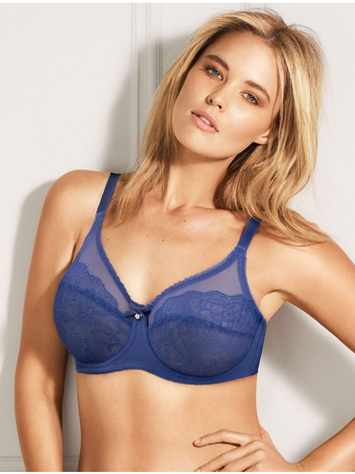 Wacoal Bras - Retro Chic 855186 - Deep Ultramarine SPECIAL OFFER FREE EXPRESS SHIPPING